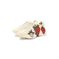 Кроссовки Gucci Кожаные кроссовки Rhyton Gucci