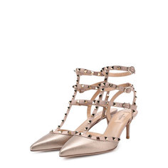 Туфли Valentino Garavani Rockstud из металлизированной кожи с ремешками Valentino