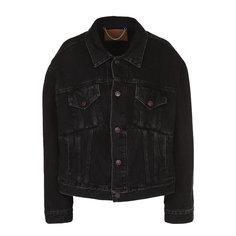 Куртки Balenciaga Джинсовая куртка свободного кроя с потертостями Balenciaga