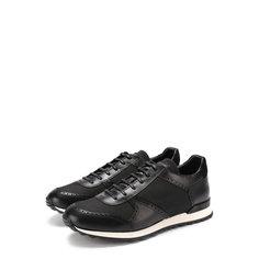 Кроссовки Kiton Комбинированные кроссовки на шнуровке Kiton