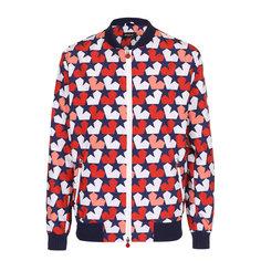 Куртки Kiton Бомбер на молнии с принтом и контрастными манжетами Kiton