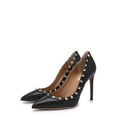 Туфли Valentino Кожаные туфли Valentino Garavani Rockstud на шпильке Valentino