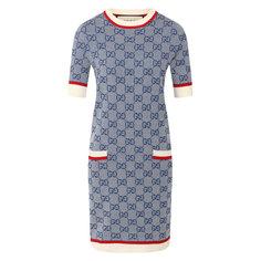 Платья Gucci Платье из смеси шерсти и хлопка Gucci