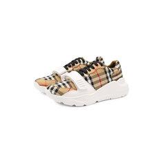 Кроссовки Burberry Текстильные кроссовки на шнуровке Burberry