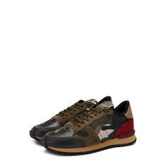 Кроссовки Valentino Комбинированные кроссовки Valentino Garavani Rockrunner с принтом Valentino