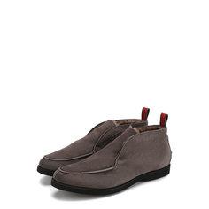 Замшевые ботинки Kiton