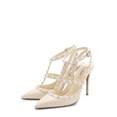 Туфли Valentino Кожаные туфли Valentino Garavani Rockstud с ремешками Valentino