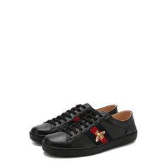 Кроссовки Gucci Кожаные кеды Ace на шнуровке Gucci