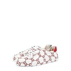Кроссовки Gucci Кожаные кеды с принтом GG Gucci