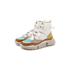 Кроссовки Chloé Комбинированные кроссовки Sonnie Chloé