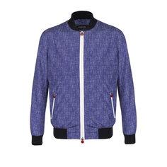 Куртки Kiton Бомбер на молнии с эластичными манжетами Kiton