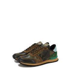 Кроссовки Valentino Комбинированные кроссовки Valentino Garavani Rockrunner с замшевой отделкой Valentino