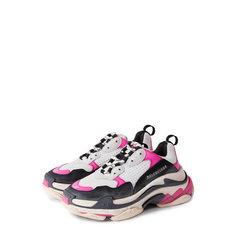 Кроссовки Balenciaga Комбинированные кроссовки Triple S Balenciaga