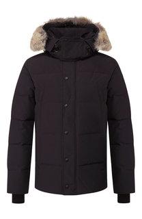Пуховая куртка Wyndham с меховой отделкой Canada Goose