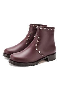 Кожаные ботинки Valentino Garavani Rockstud Valentino