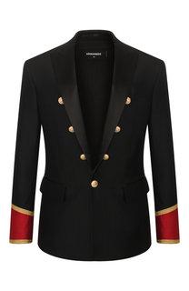 Пиджак из смеси шерсти и шелка Dsquared2