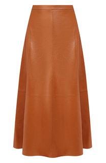 Кожаная юбка Loro Piana