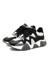 Комбинированные кроссовки Squalo Versace