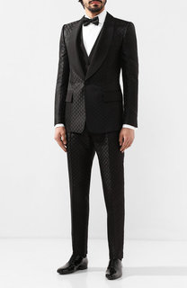 Шелковый смокинг-тройка Dolce & Gabbana