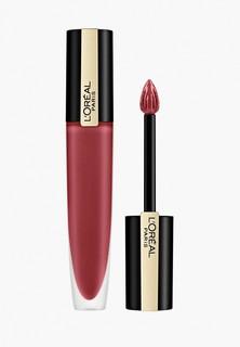 """Тинт для губ LOreal Paris LOreal Rouge Signature Parisian Sunset, матовый, оттенок 129, """"Я обезоруживаю"""", бордовый, 7 мл"""