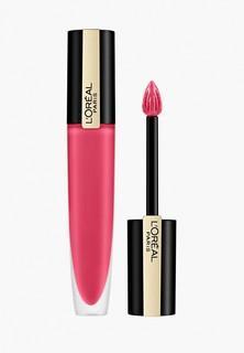 """Тинт для губ LOreal Paris LOreal Rouge Signature Parisian Sunset, матовый, оттенок 128, """"Я представляю"""", розовый, 7 мл"""