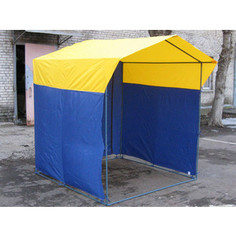 Палатка торговая Митек Домик 1,9х1,9 (разборная)(Желтый/Зеленый)