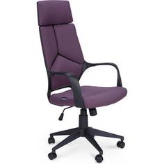 Кресло офисное NORDEN IQ black plastic violet черный пластик/фиолетовая ткань