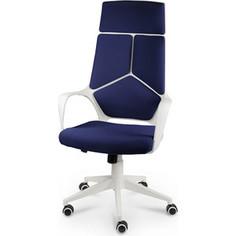 Кресло офисное NORDEN IQ белый пластик/темно-синяя ткань