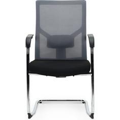 Кресло офисное NORDEN Сильвия gray CF/ хром/серая ткань