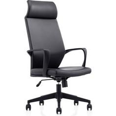 Кресло офисное NORDEN Союз LB/ черный пластик/черная экокожа