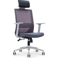 Кресло офисное NORDEN Трэнд gray/ серый пластик/серая сетка/серая ткань