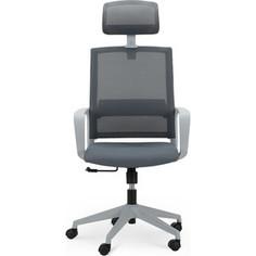 Кресло офисное NORDEN Практик grey/ серый пластик/серая сетка/серая ткань