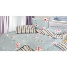 Комплект постельного белья Ecotex евро, сатин, Гармоника Клер (4660054344282)
