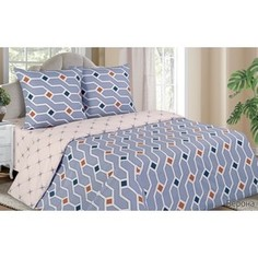 Комплект постельного белья Ecotex Евро с резинкой, поплин, Поэтика Верона (4650074958224)