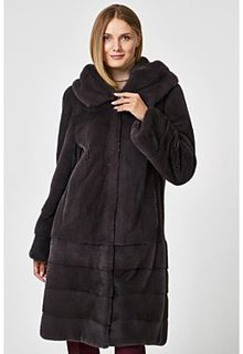 Норковая шуба с капюшоном Empire of Fur