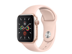 Умные часы APPLE Watch Series 5 44mm Gold Aluminium with Pink Sand Sport Band S/M - M/L MWVE2RU/A