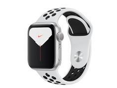 Умные часы APPLE Watch Nike Series 5 40mm Silver Aluminium with Pure Platinum-Black Nike Sport Band MX3R2RU/A