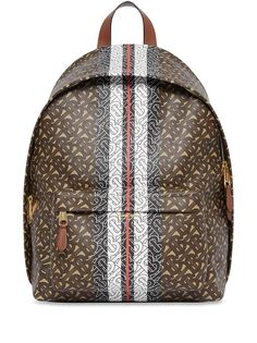 Burberry рюкзак с монограммой и принтом в полоску