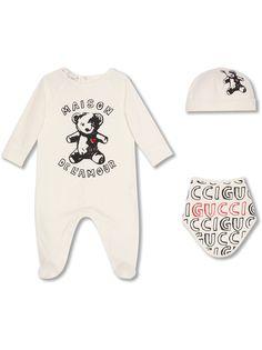 "Gucci Kids ""комплект из комбинезона, нагрудника и шапки"""