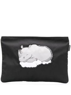 Balenciaga клатч Explorer с изображением носорога