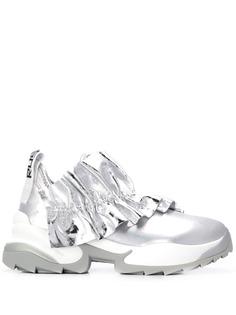 Sergio Rossi кроссовки Extreme с эффектом металлик
