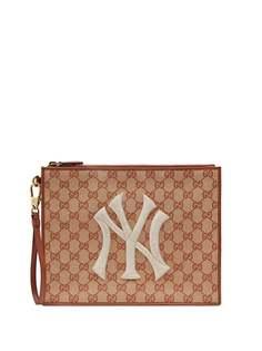 Gucci клатч с узором Original GG и нашивкой NY Yankees™