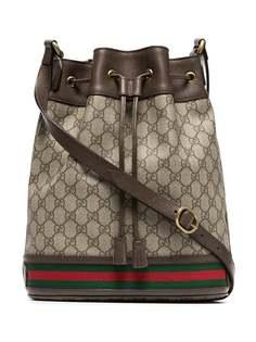 Gucci сумка-мешок с узором GG
