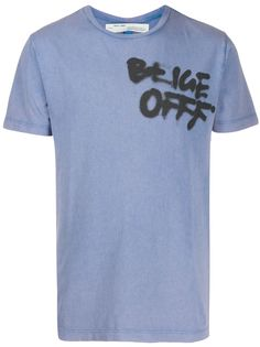 Off-White футболка с принтом граффити