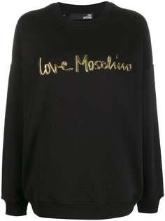 Love Moschino толстовка с контрастным логотипом