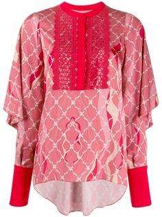 Three Floor блузка Romantique с принтом