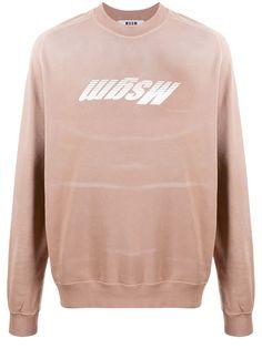 MSGM свитер с эффектом потертости и логотипом