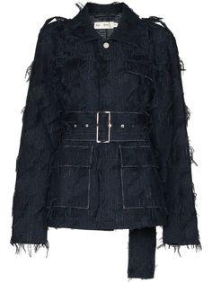 Xu Zhi джинсовая куртка с бахромой и поясом