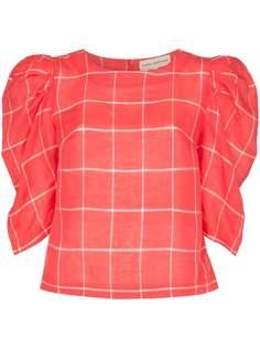 Mara Hoffman блузка Katya с пышными рукавами