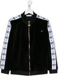 Chiara Ferragni Kids куртка на молнии с принтом Logomania